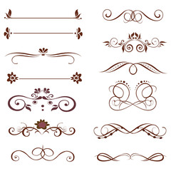 vector set :calligraphic design elements