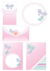 backgrounds and frames for congratulation with a newborn girl