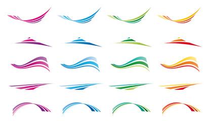 ondas 4 colores