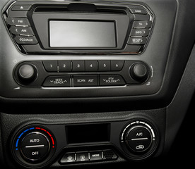 Control panel in a modern car