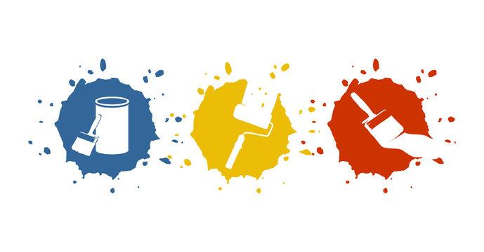 Logo für Maler, Anstreicher