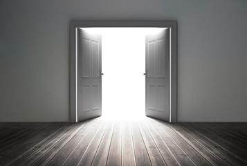 Doorway revealing bright light