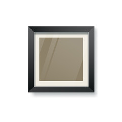 Modern black frame and glass empty, vector