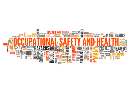 Occupational safety and health (tag cloud)