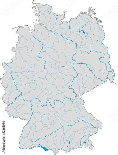 Seen In Norddeutschland Karte.Deutschlandkarte Flüsse Und Seen Stockfotos Und Lizenzfreie