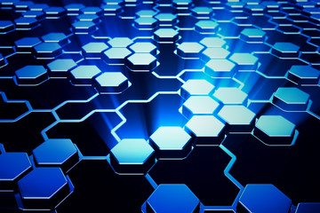 Hexagonal background.