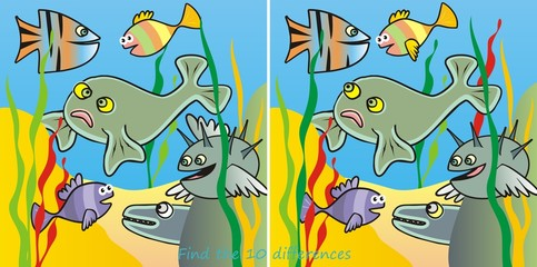 fishes-10 difference