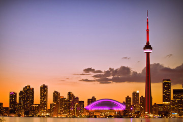 Wall Murals Toronto View of Toronto cityscape during sunset
