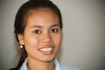 portrait of a young Cambodian girl
