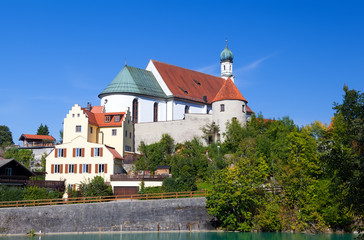 Wall Mural - church in Bavarian town Fussen