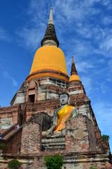 Pagoda in Wat Yai Chai Mongkol,Ayutthaya,Thailand