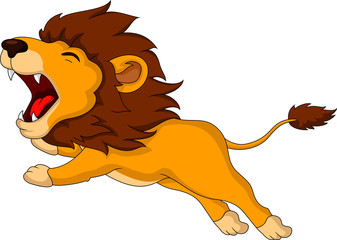 roaring cartoon Lion