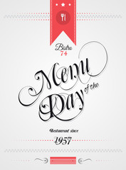 Vintage Menu of the Day background template.
