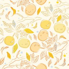 Pattern with orange branch
