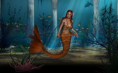 Fotobehang Zeemeermin Mermaid