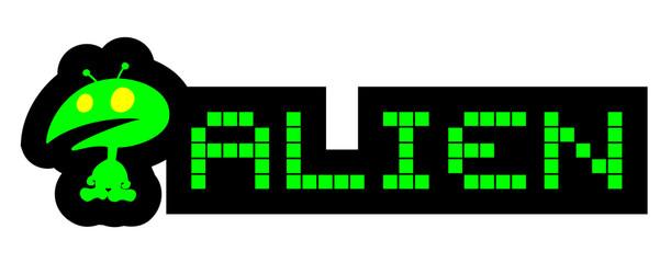 Poster Pixel Alien pixel