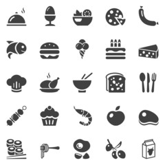 food icons black