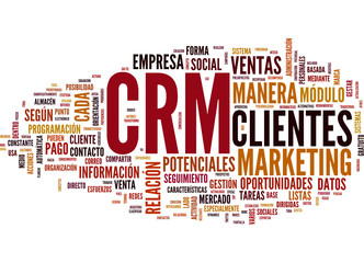 CRM (Customer Relationship Management; tag cloud español)