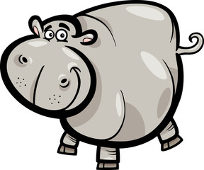 Hippo or Hippopotamus Cartoon Character