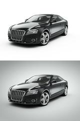 Papier Peint - Black Sport Car