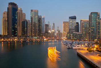 Tuinposter Dubai Dubai Skyline from Marina