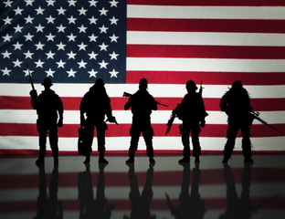 American special forces Silhouette