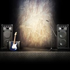 Heavy metal rocker stage themed background