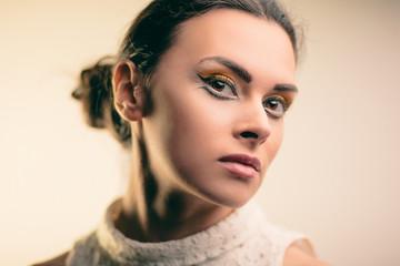 Bright makeup girl