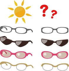 サングラスと眼鏡
