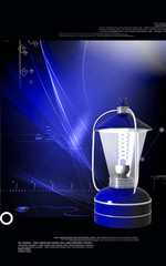 Rechargeable floured lantern