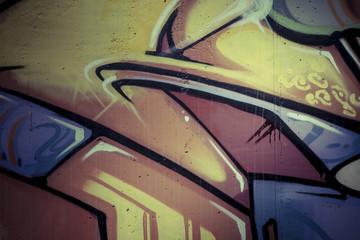 Colorful graffiti, abstract grunge grafiti background over textu