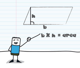 Geometry : calculating the area of ​​a parallelogram