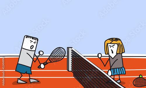 Couple qui se dispute sur un cours de tennis fichier for Un cours de tennis