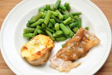 Twice Baked Potato and Pork Dinner