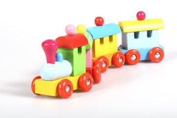 bunte Holzeisenbahn