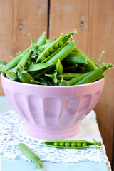 Fresh pea pods