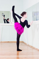 girl at the ballet class