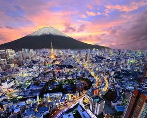 Keuken foto achterwand Tokyo Tokyo and Fuji