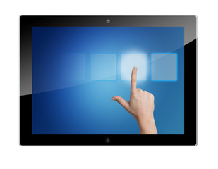 Tablet pressing button