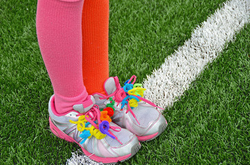 pipe cleaners on sports shoe