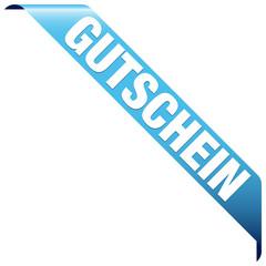 """Banner """"Gutschein"""" blau"""