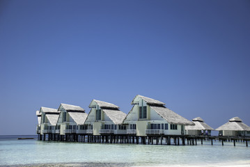 Maldivian Waterhuts