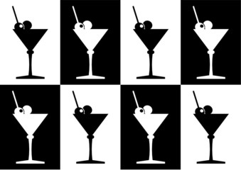 martini cocktail seamless background