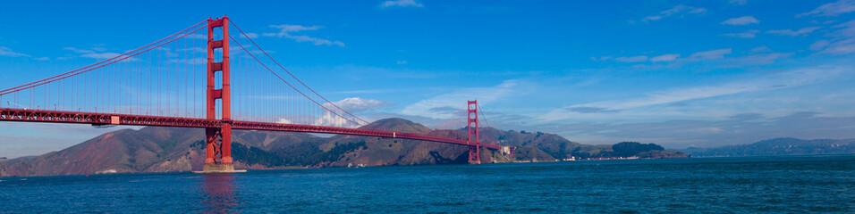 Deurstickers San Francisco Panoramic View of tGolden Gate Bridge in San Francisco