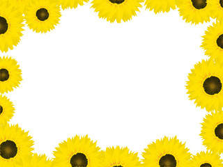Thanksgiving card with sunflowers