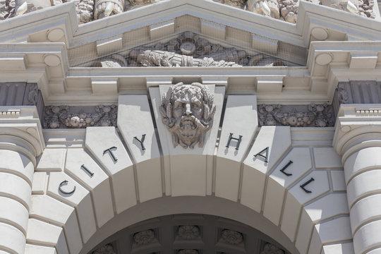Pasadena City Hall Sign Detail