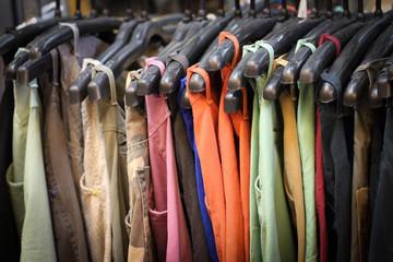 Close up hang shirts and cloths