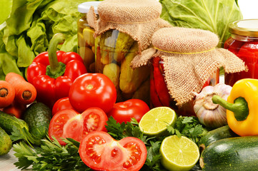 Composition with assorted organic vegetables