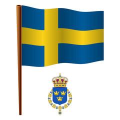 sweden wavy flag