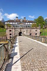 Eingang Schloss Pyrmont in Bad Pyrmont, Deutschland